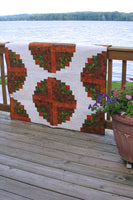 Amber Logs off set log cabin quilt pattern is easy to make