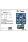 Blue Sapphire quilt pattern is fast and easy to make using the templates provided - pattern cover