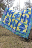 Blue Sapphire quilt pattern is fast and easy to make using the templates provided