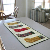 Christmas Stockings table runner