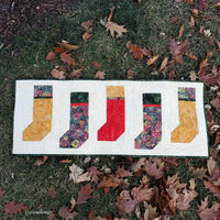 Christmas Stockings table runner pdf tutorial