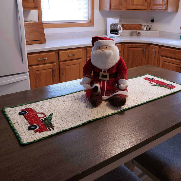 Christmas Truck Table Runner