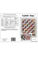 Confetti Steps quilt pattern cover and yardage