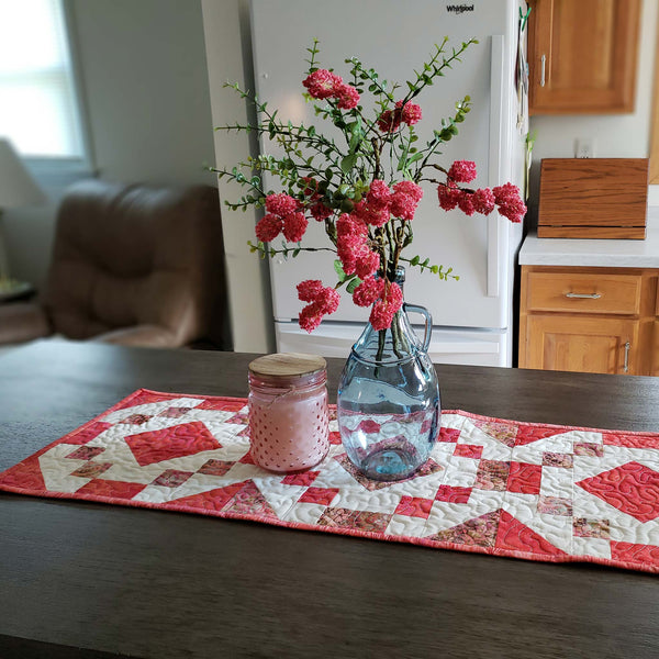 Coral Jewel table runner tutorial