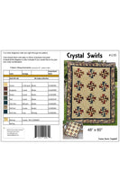 Crystal Swirls quilt pattern cover and yardage