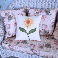 Daisy Applique Pillow