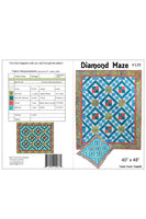 Diamond Maze quilt pattern cover and yardage