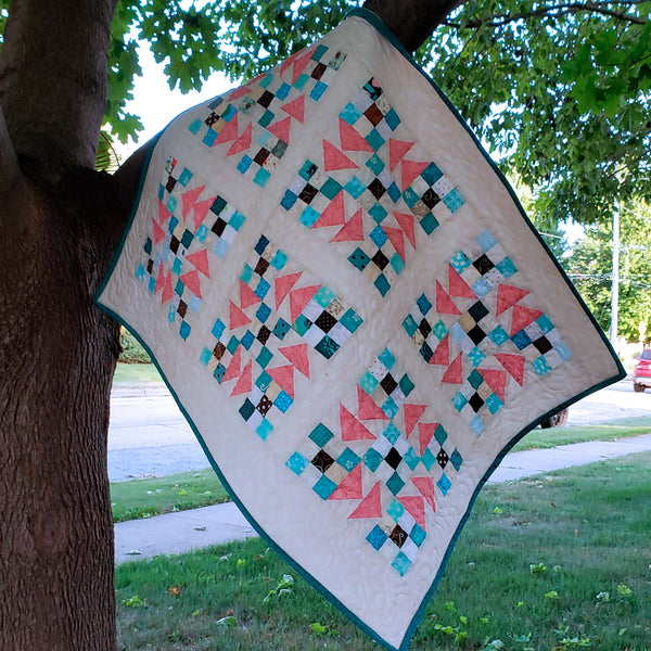 Flying Nines baby quilt tree