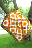 Golden Sunset Quilt pattern come with full color diagrams of each step in making the quilt PDF