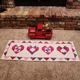 Heart Table Runner and Baby Quilt