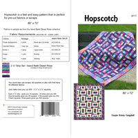 Hopscotch quilt made with one jelly roll