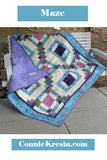 Maze quilt pattern is fast and easy to make