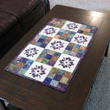 Modern 9 patch table runner with applique