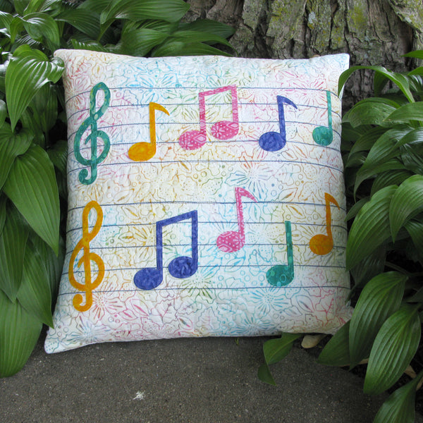 Musical Notes Applique pillow