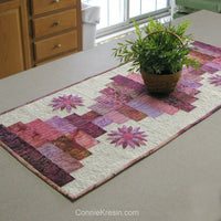 Piano Keys is a beautiful quilted tablerunner pattern with applique