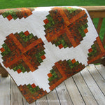 Easy to make Amber Logs quilt pattern