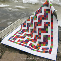 Confetti Steps uses one strip set, jelly roll or scraps from your stash