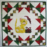 Christmas Kitty appliqued wall hanging pattern