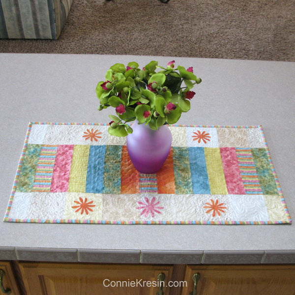 Sherbet Stripes table runner pattern