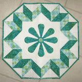 Spin the Wheel quilted wall hanging pattern with applique