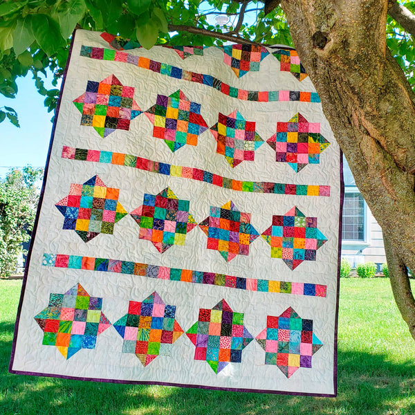 River Scraps quilt pattern perfect for your scraps of fabrics Easy to make