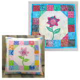 Sea Mist Flower pillow and mini quilt pattern
