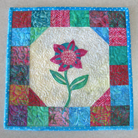 Sea Mist Flower wall hanging quilt pattern