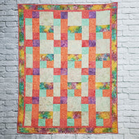 Sorbet quilt pattern makes 4 different sizes of quilts and is fast and easy to make. Beginner pattern