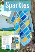 Sparkles quilt pattern fast and easy to make in several sizes