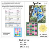 Sparkles quilt pattern in several sizes