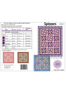Spinners quilt pattern cover and yardage