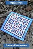 Spinners quilt pattern is fast and easy to make