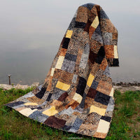 Stacks quilt pattern is digital and easy to make with fat quarters