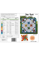 Star Dust quilt pattern cover and yardage