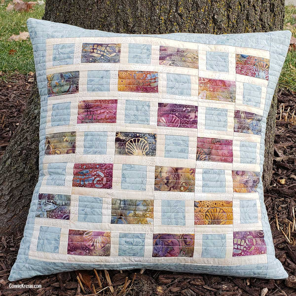 Brick Road quilt pillow easy to make
