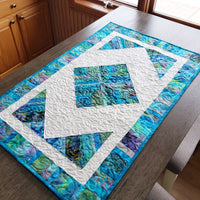 Easy string batik table runner