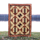Tassel quilt pattern by the river