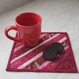 Wine string mug rug pattern