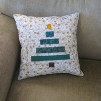 Wonky Christmas Tree pillow