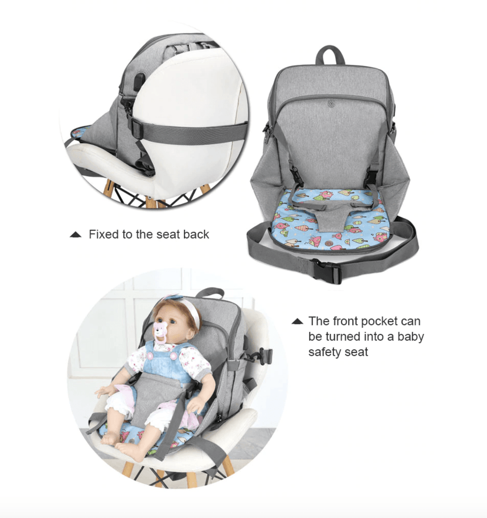 Mintway Multifunction Diaper Bag w/ Booster Seat