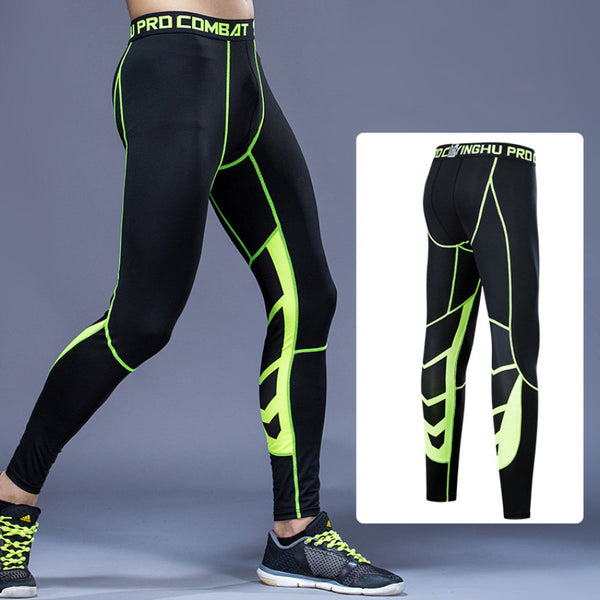b8937168827b01 Men Compression Tight Leggings Running Sports Male Gym Fitness Pants Quick  dry Trousers Workout Training Crossfit ...