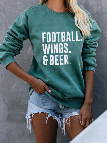 Football Wing & Beer Soft Sweatshirts