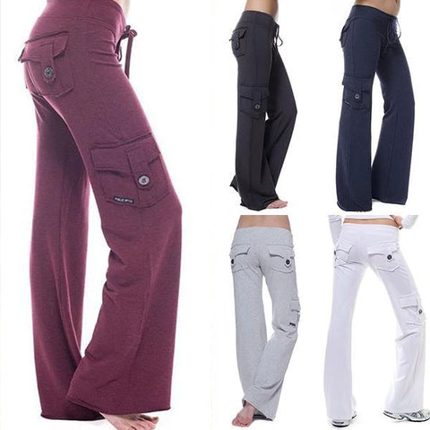Casual Stretchy Pockets Eco-friendly Bamboo Yoga Pants