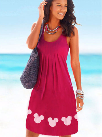 Mickey Mouse Drape Beach Dress