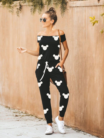 Mickey Mouse Off-The-Shoulder Jumpsuits