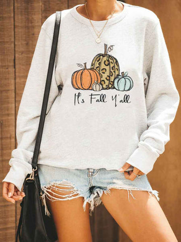 It's Fall Y'all Leopard Pumpkin Sweatshirt