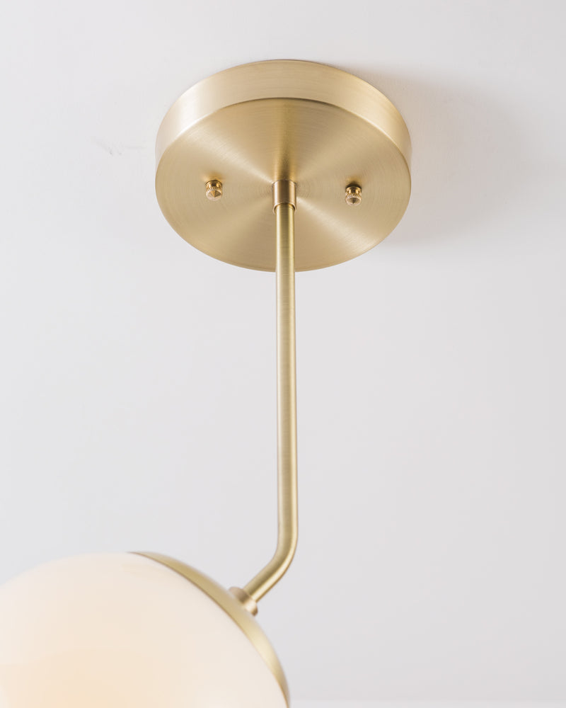 OFS. Brushed Bent Brass Pendant