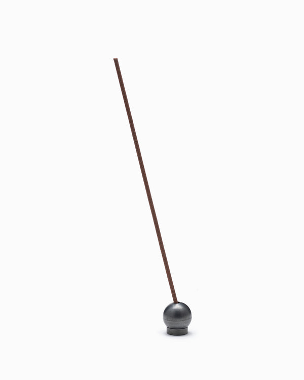 Japanese Blackened Brass Ball Incense Holder