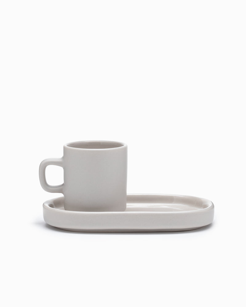 Espresso Cups with Tray - Moonbeam