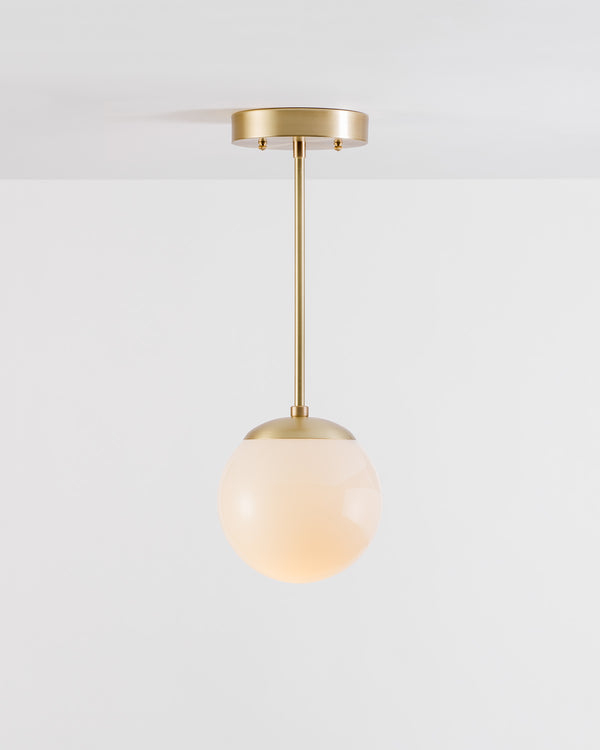 OFS. Brushed Straight Brass Pendant